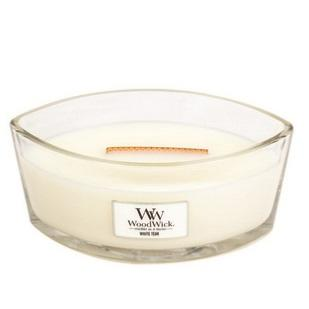 Bougie Ellipse White Teak / Teck blanc Woodwick