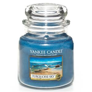 Moyenne Jarre Turquoise Sky / Ciel Turquoise Yankee Candle
