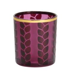 Photophore pour bougie Maize Metal violet