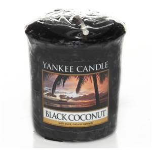 Votive Black Coconut / Noix De Coco Noir