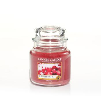 Moyenne Jarre cranberry ice de Yankee Candle