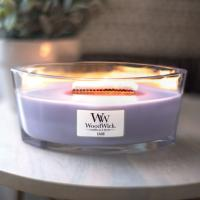 Bougie Ellipse Lilas Woodwick