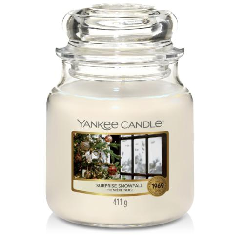 "Moyenne Jarre Surprise Snowfall ""Première neige"" Yankee Candle"