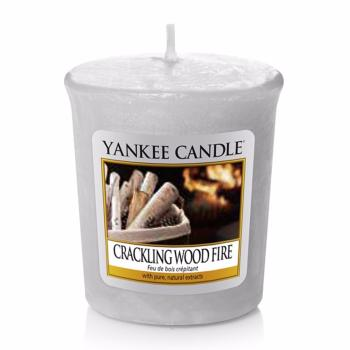 Bougie Votive Crackling Wood Fire Yankee Candle