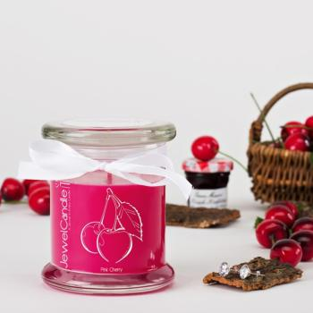 Pink Cherry (Boucles D'oreilles) Jewel Candle