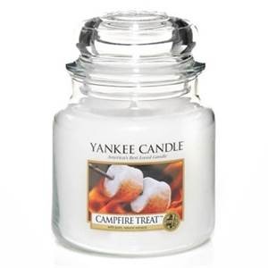 bougies yankee candle moyenne jarre firesides treats marshmallow grilles. Black Bedroom Furniture Sets. Home Design Ideas