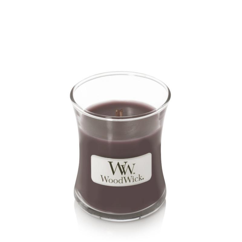 Woodwick Bougie parfum/ée Ellipse Velours de Santal