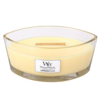 Bougie Ellipse Lemongrass & Lily Woodwick