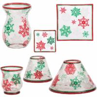 Red & Green Snowflakes