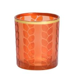 Photophore pour bougie Maize Metal orange