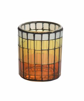 Verre pour bougie votive Warm summer night mosaic