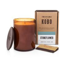 Bougie Kobo Woodblock Stoneflower 425g Kobo
