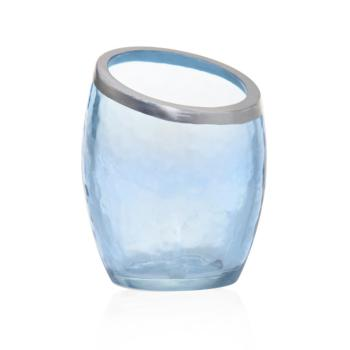Photophore Pour Votive Pearlescent Crackle Bleu Yankee Candle