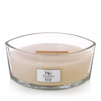 Bougie Ellipse White Honey / Miel Blanc Woodwick