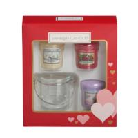 Coffret de 3 bougies votives + 1 photophore Yankee Candle