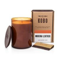 Bougie Kobo Woodblock Modena Leather 425g Kobo