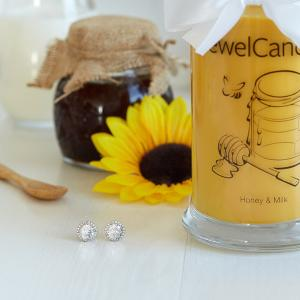 Bougie Honey & Milk Boucles d' Oreille Jewel Candle