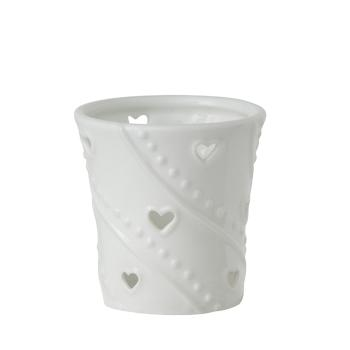 Verre à Bougie votive collection White Hearts