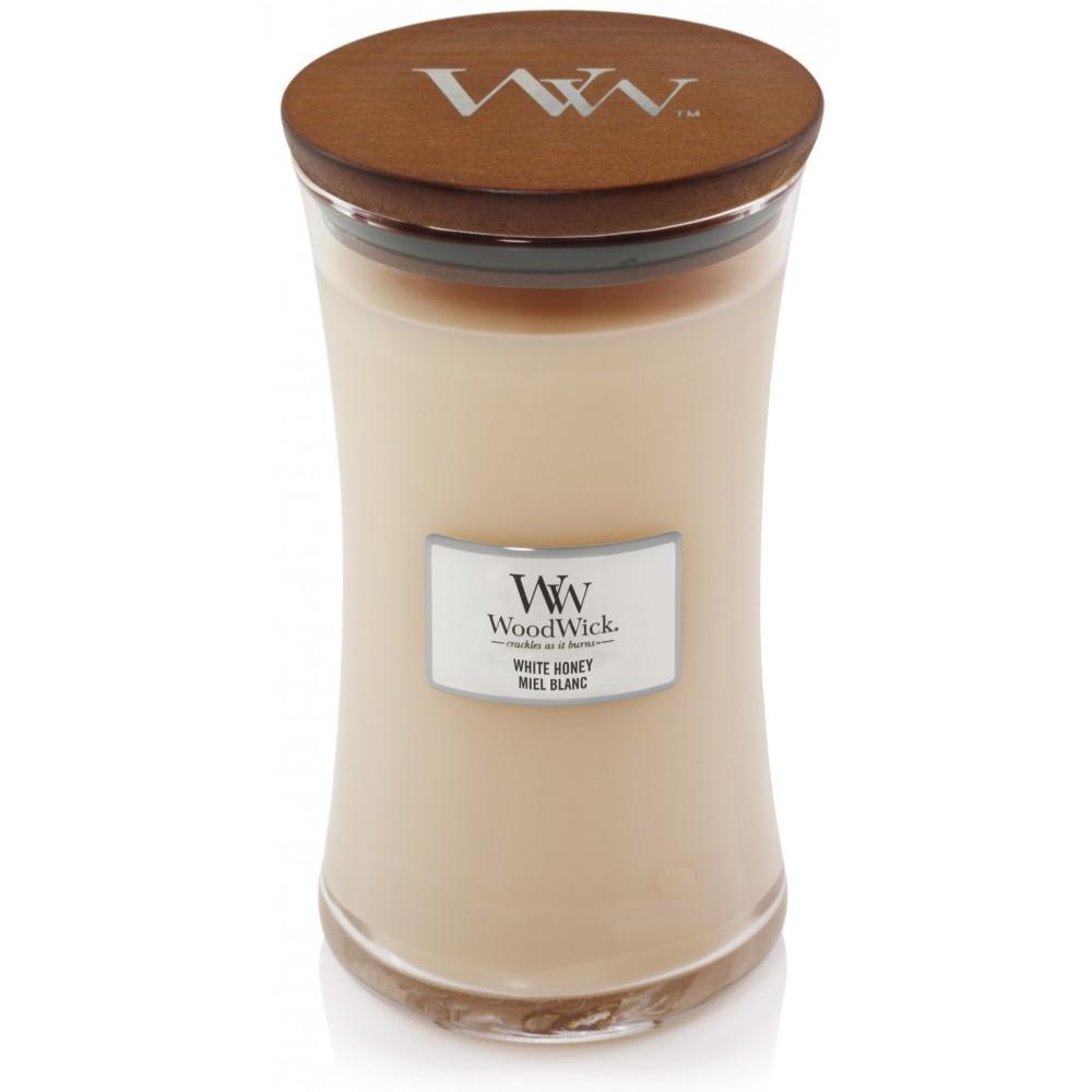 Woodwick Bougie parfum/ée Ellipse Miel Blanc
