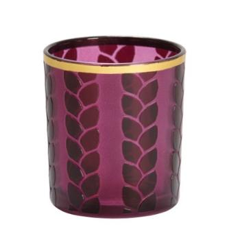 Photophore Pour Bougie Maize Metal Violet Yankee Candle