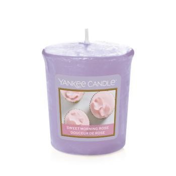 Bougie Votive Sweet Morning Rose / Douceur de rose Yankee Candle